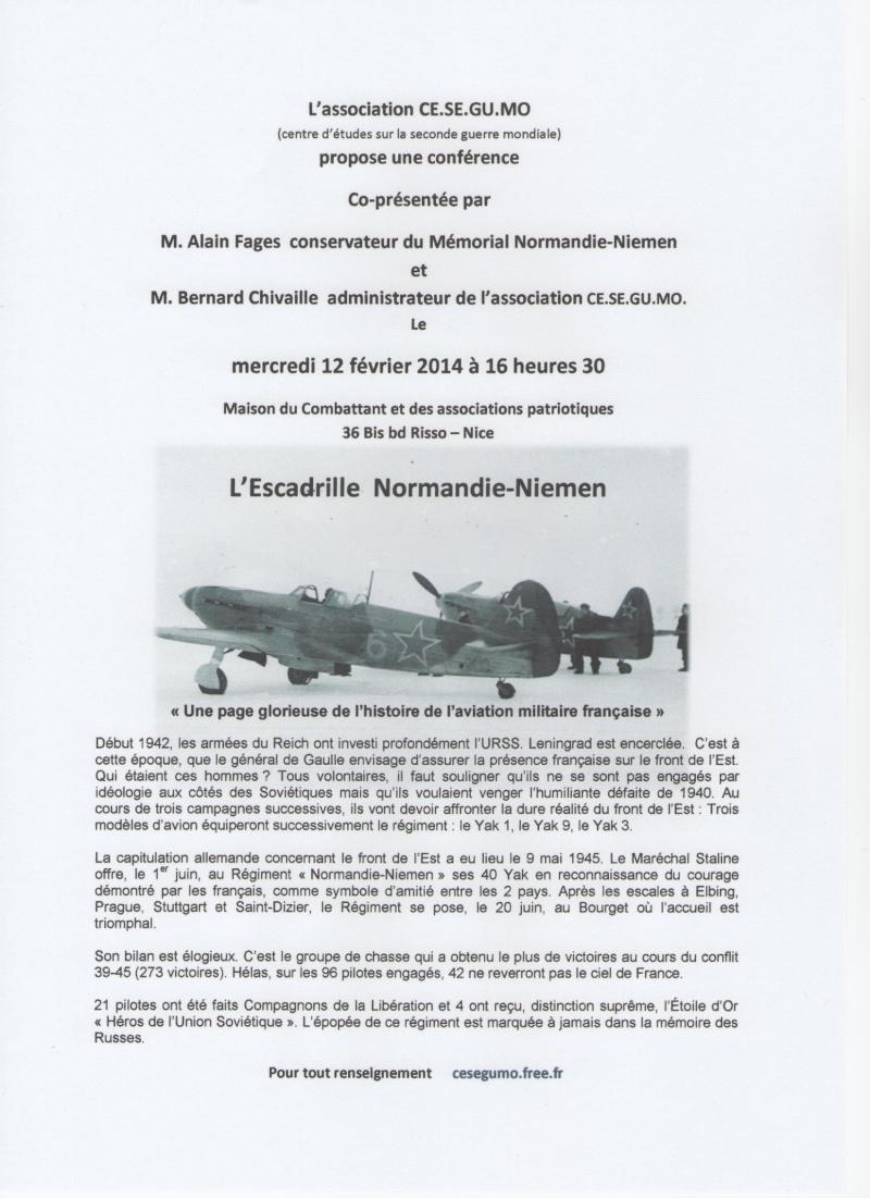 conférence Normandie-Niemen à Nice le 12 février 2014 à 16h30. Annonc10