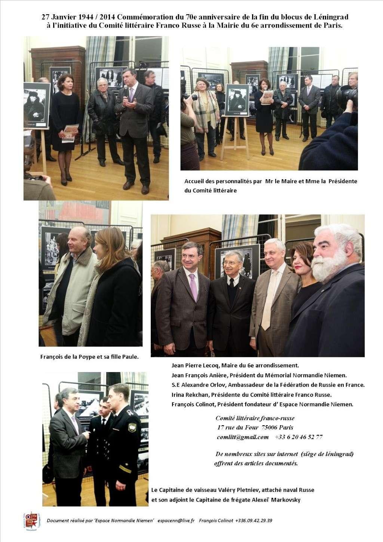 hommage au 70e anniversaire de la fin du blocus de Léningrad Expo_l10