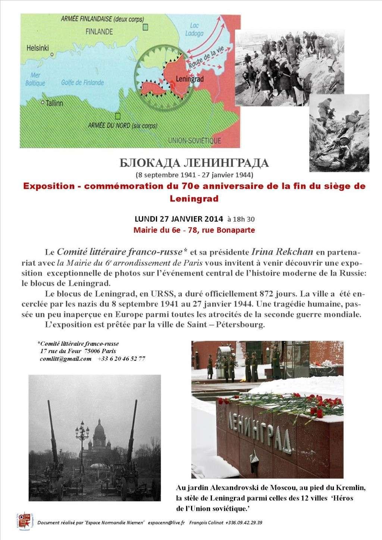 hommage au 70e anniversaire de la fin du blocus de Léningrad Lening10