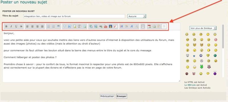 integration lien, video et image sur le forum Captur12