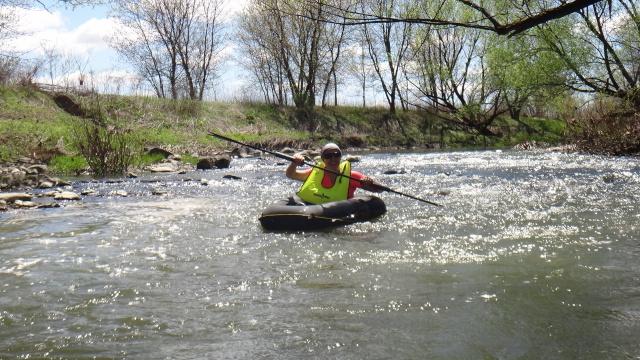 Vélo-Packraft [se balader avec un vélo-kayak]   St-jac13