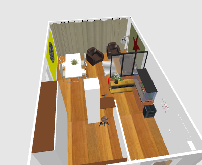 Aménagement Salon/Salle à manger Chamen21