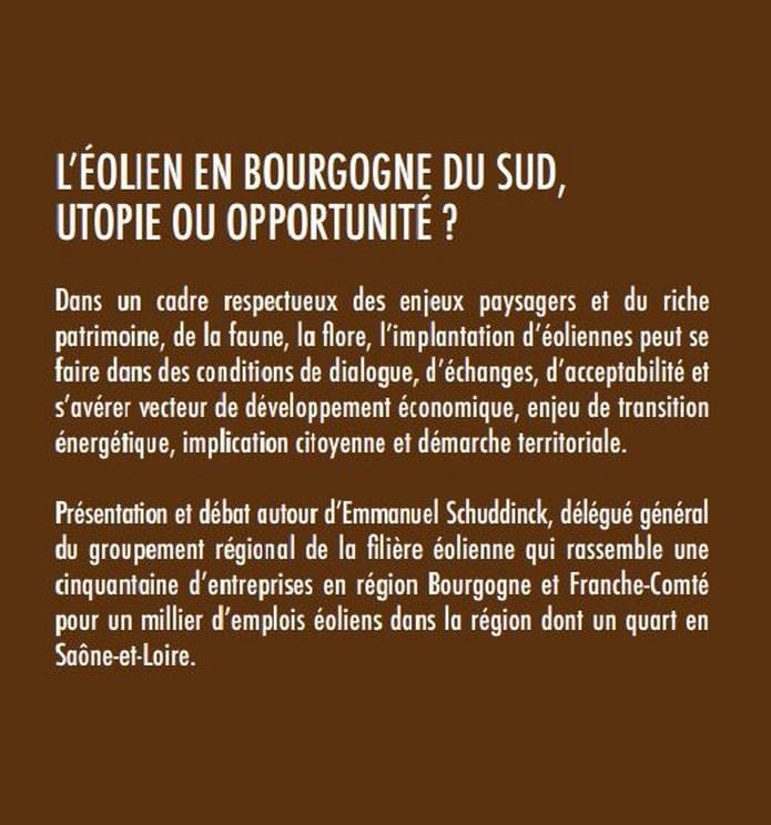 L'éolien en Bourgogne du sud, Utopie ou Opportunité ? Aolien11