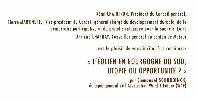 L'éolien en Bourgogne du sud, Utopie ou Opportunité ? Aolien12