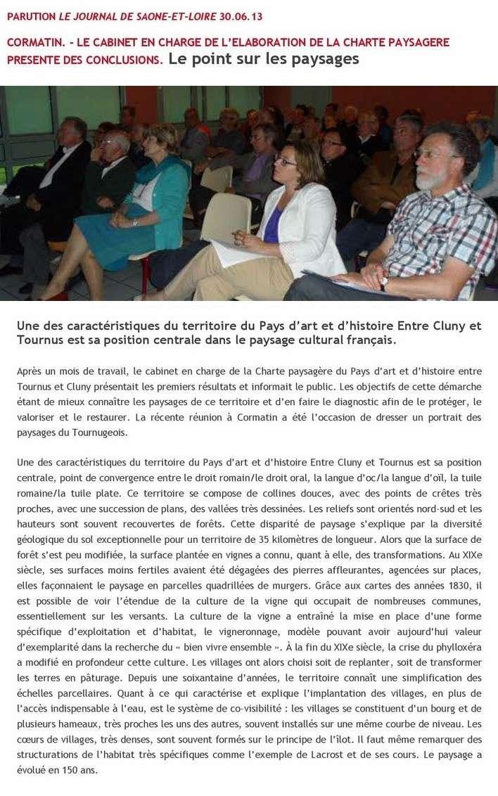 Compte-rendu de la réunion publique d'information Charte paysagère et architecturale Lundi 24 Juin 2013, à Cormatin Articl10