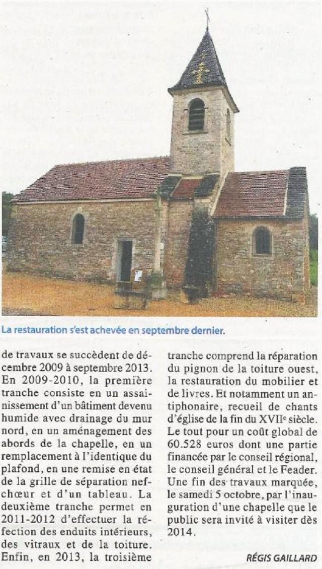 Une formidable préservation chapelle de FISSY  Lugny Chapel14