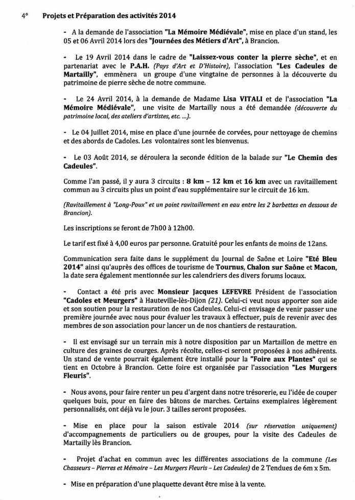 Compte rendu AG 2014 Les Cadeules de Martailly D10