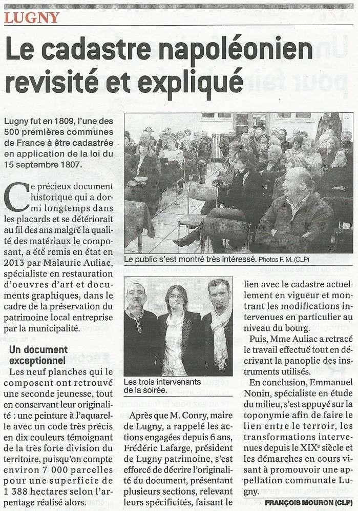 """Soirée de présentation du """"cadastre Napoléon"""" restauré Lugny_15"""