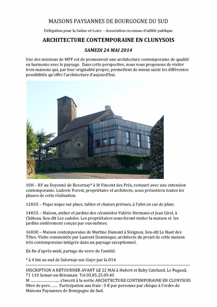 ARCHITECTURE CONTEMPORAINE EN CLUNYSOIS SAMEDI 24 MAI 2014 Sortir10