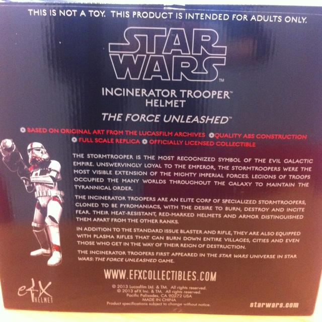 eFX Collectibles - Stormtrooper Incinerator helmet Img_1211