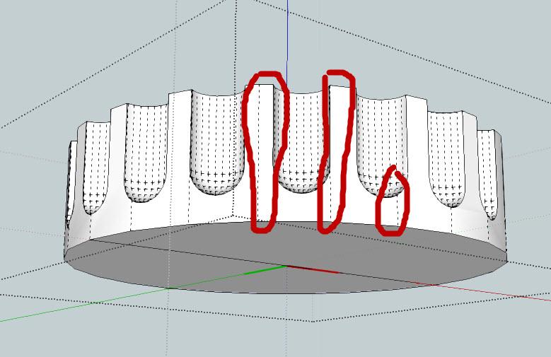Composant dynamique : colonne a cannelures 27-01-11