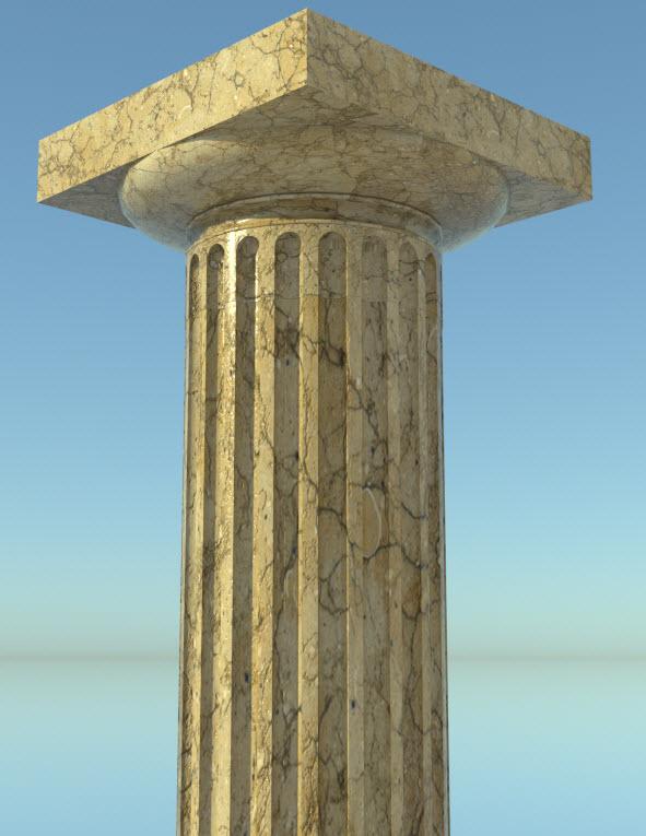 Composant dynamique : colonne a cannelures 27-01-14