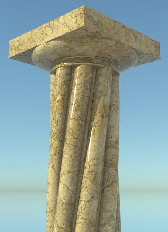 Composant dynamique : colonne a cannelures 27-01-15