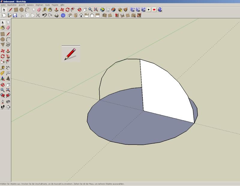 Sketchup und Pepakura - Ein paar grundsätzliche Dinge Kuppel13