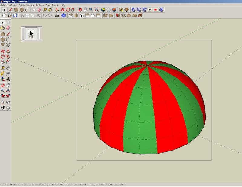 Sketchup und Pepakura - Ein paar grundsätzliche Dinge Kuppel32
