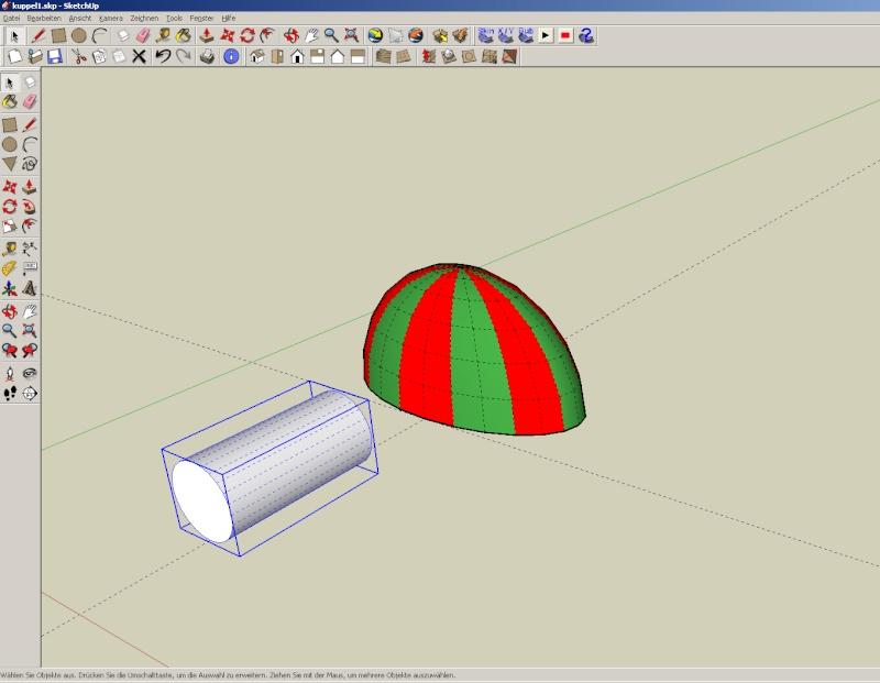 Sketchup und Pepakura - Ein paar grundsätzliche Dinge Kuppel37