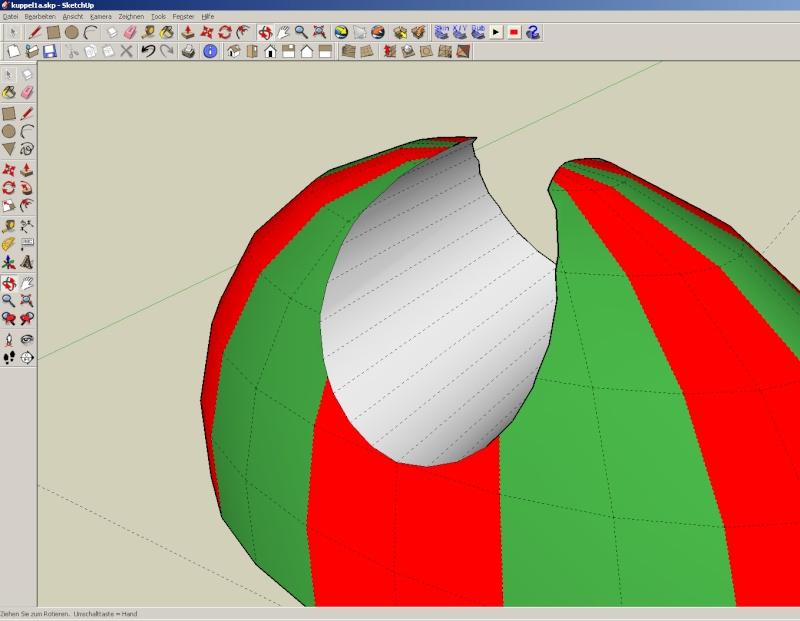 Sketchup und Pepakura - Ein paar grundsätzliche Dinge Kuppel42