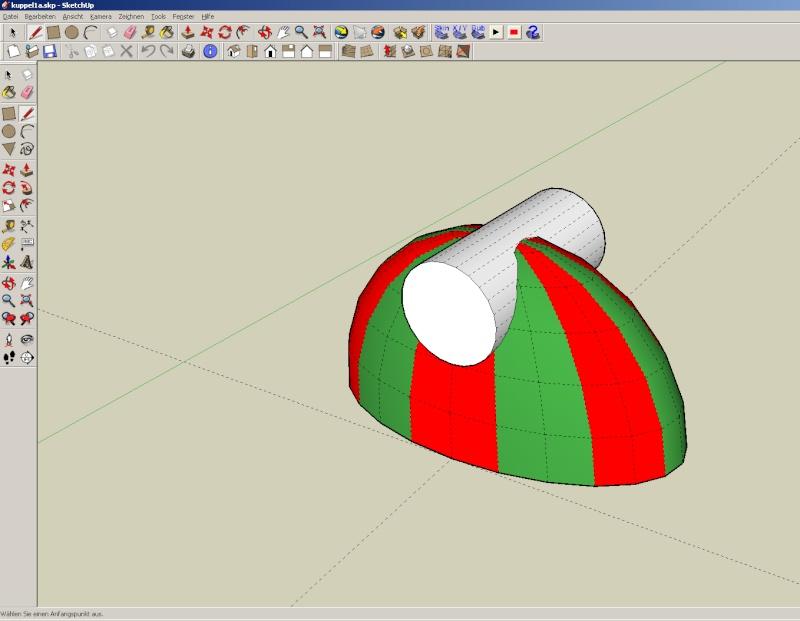 Sketchup und Pepakura - Ein paar grundsätzliche Dinge Kuppel43