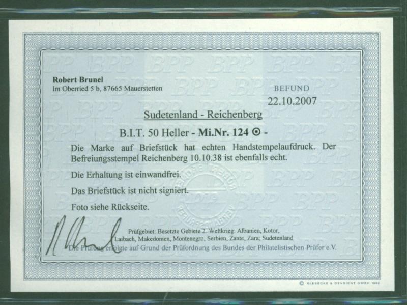 sudetenland - Sudetenland - Ausgabe für Reichenberg 124_be10