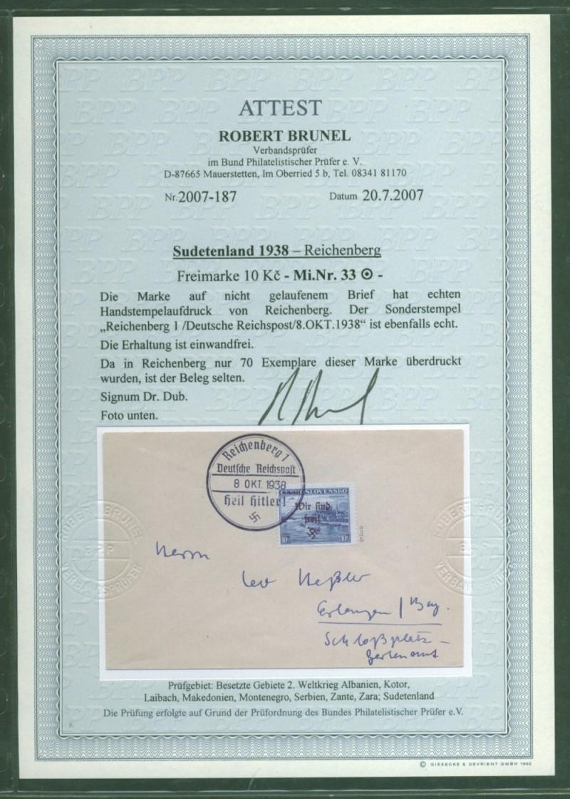 sudetenland - Sudetenland - Ausgabe für Reichenberg 33_bri10