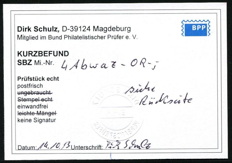 Berlin - Brandenburg (OPD Potsdam) -Sowjetische Besatzungszone- 4_a_b_11