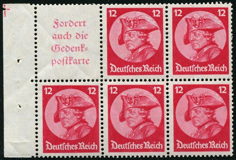Deutsches Reich Zusammendrucke und Markenheftchen Deutsc18