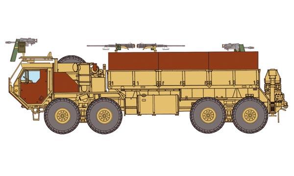 review du HEMTT gun truck (italeri 1:35) T2m-i610
