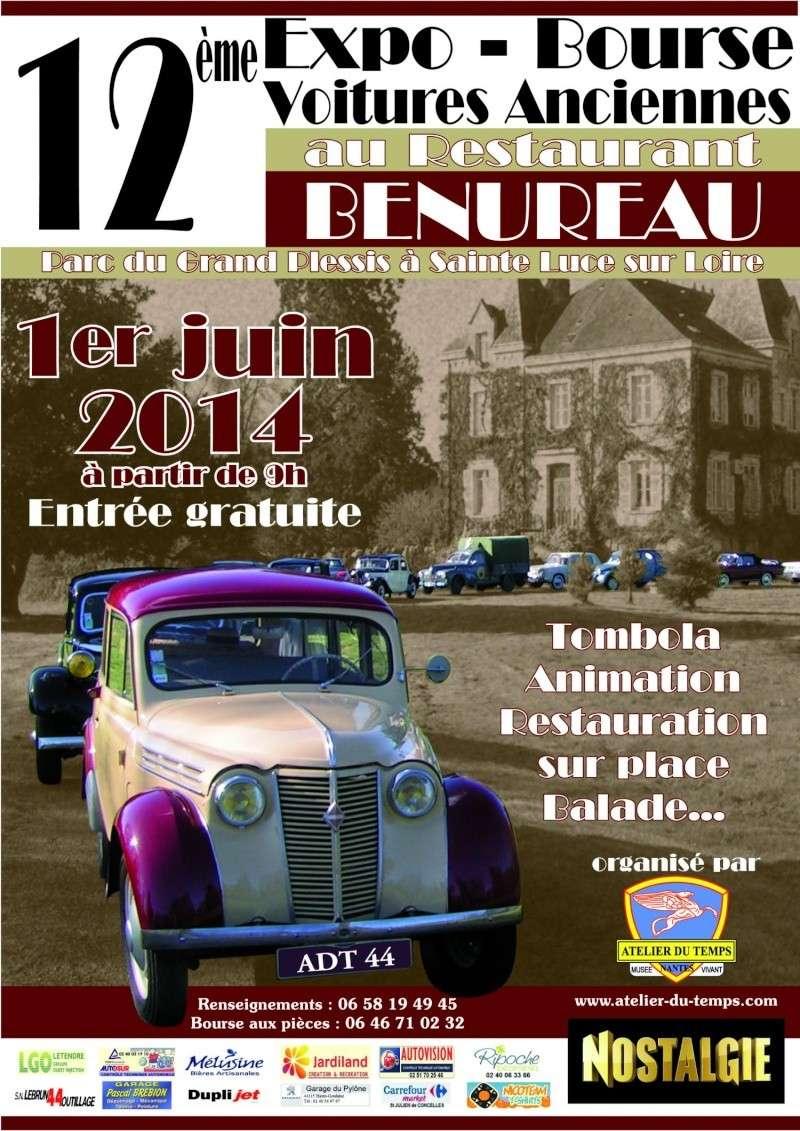 Sainte Luce Sur Loire (44) 12 juin prochain 12ème Expo Bourse Affich10