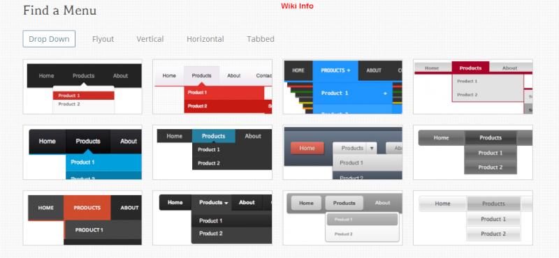 Generatore menu CSS online - CSS Menu Maker 2uer4t10