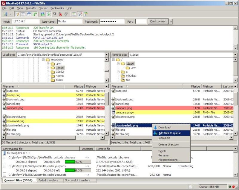 Caricare più velocemente cartelle, file e molto altro via FTP - FileZilla Fz3_wi10