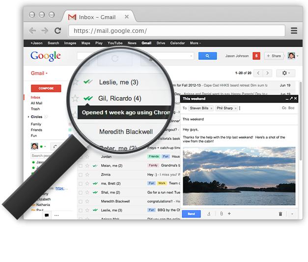 Come scoprire se il destinatario legge le mie e-mail su Gmail - MailTrack Img_ok10