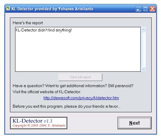 Come scoprire la presenza di keylogger - KL-Detector Kl-det10