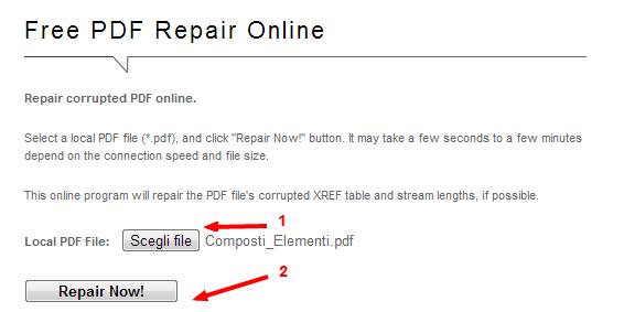 Come corregge un file PDF Online - Free PDF Repair M7gdgi10