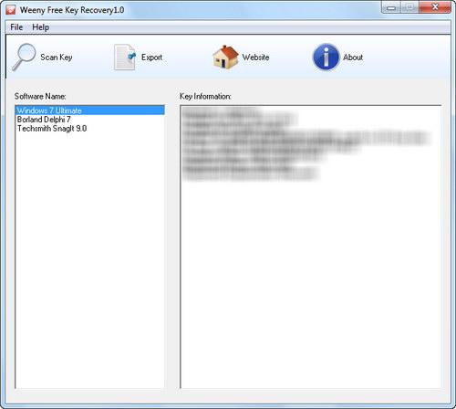 Come estrarre la licenza di un gioco o di un software - Free Key Recovery S_keyr10