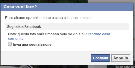 Come segnalare un video o una foto a Facebook Sa10