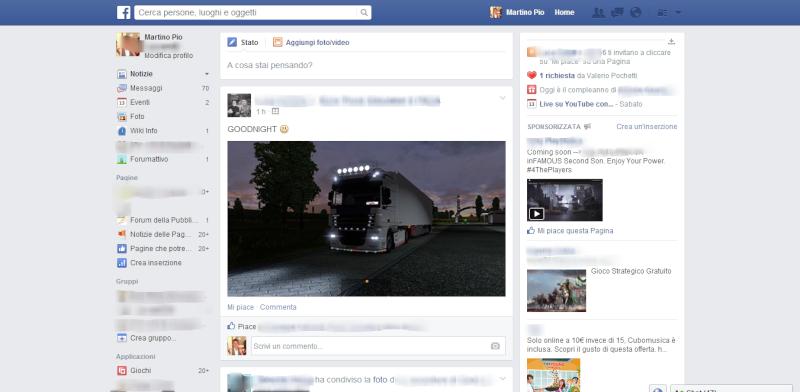 La home di Facebook si aggiorna anche in italia Screen11