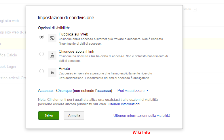 Impostazioni privacy Google Drive dei propri file Vwtkl010