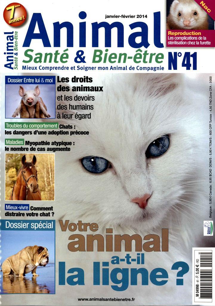 """Parution dans le magazine """"Animal santé & Bien être"""" M499810"""