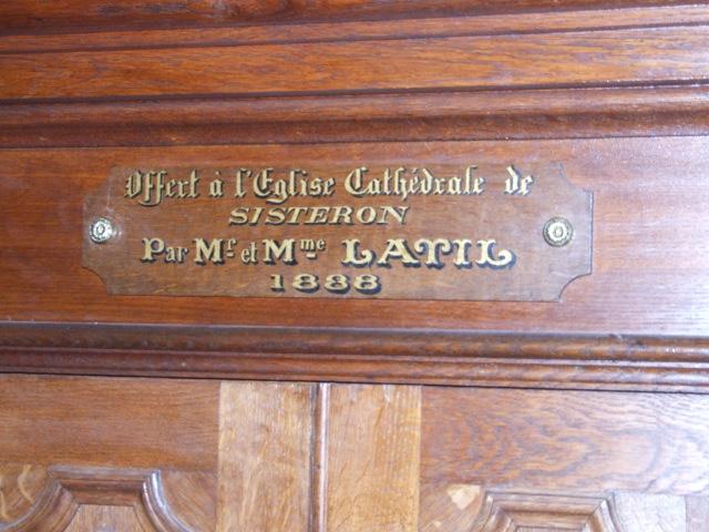 Sisteron cathédrale, Merklin 1888 Dscf2910