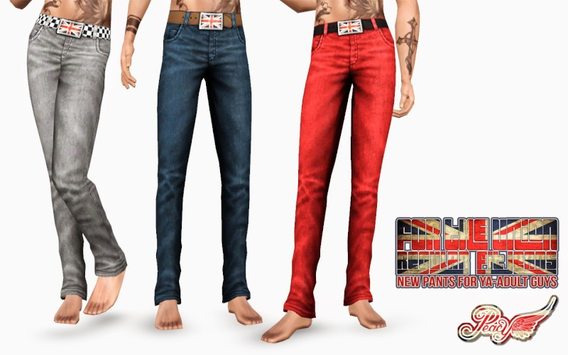 Regular Fit Jeans By Simsational Designs Pc-for10