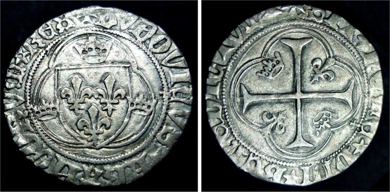 Blanc à la couronne Louis Xi ou XII, Angers A170710