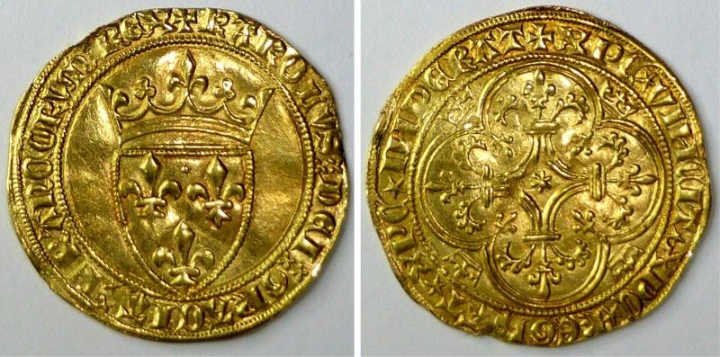 Ecu à la couronne Charles VI, Tournai Vh-g0310