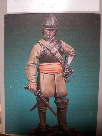 Cavalier parlementaire- Guerre civile anglaise 1645- 80 mm Border Miniatures - Terminé   Iron_s10