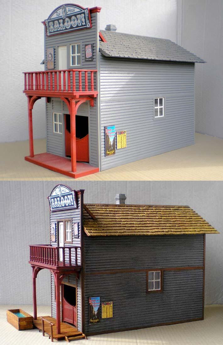 Bemalungen, Umbauten, Eigenbau - Gebäude mit Bodenplatten für meine Dioramen 002_be10