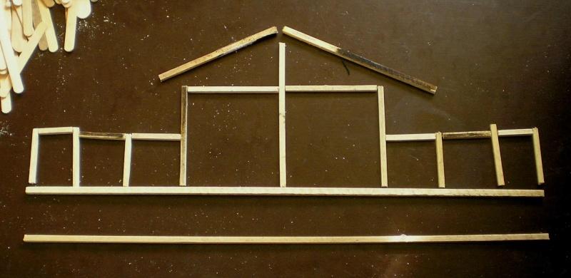 Bemalungen, Umbauten, Eigenbau - Gebäude mit Bodenplatten für meine Dioramen 003i1a10