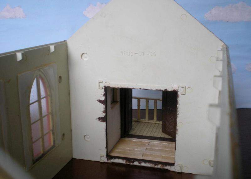 Bemalungen, Umbauten, Eigenbau - Gebäude mit Bodenplatten für meine Dioramen 004d1610