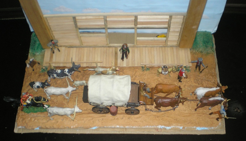 Bemalungen, Umbauten, Eigenbau - Gebäude mit Bodenplatten für meine Dioramen 008_zu15