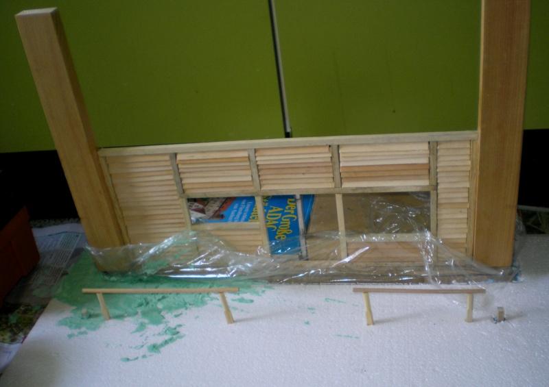 Bemalungen, Umbauten, Eigenbau - Gebäude mit Bodenplatten für meine Dioramen 149d1_10