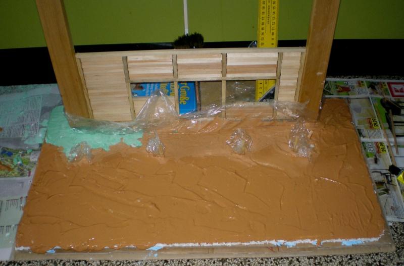 Bemalungen, Umbauten, Eigenbau - Gebäude mit Bodenplatten für meine Dioramen 149d2_10