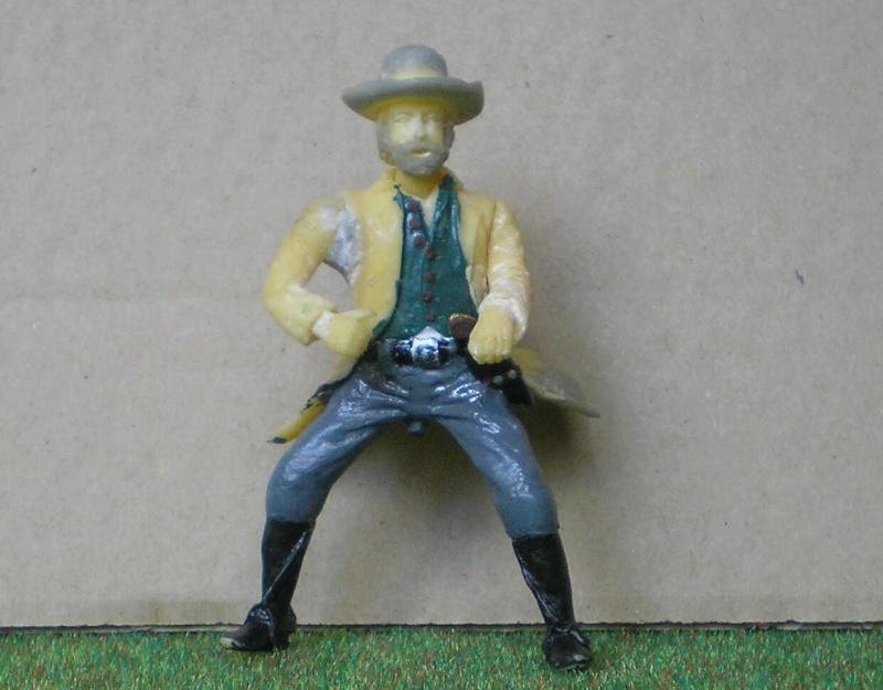 Bemalungen, Umbauten, Modellierungen - neue Cowboys für meine Dioramen 151e2a10